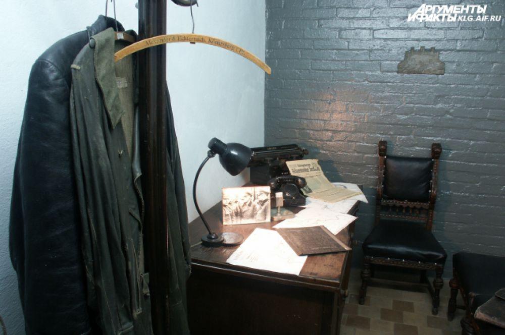 Историкам удалось воссоздать обстановку кабинета последнего коменданта Кенигсберга.
