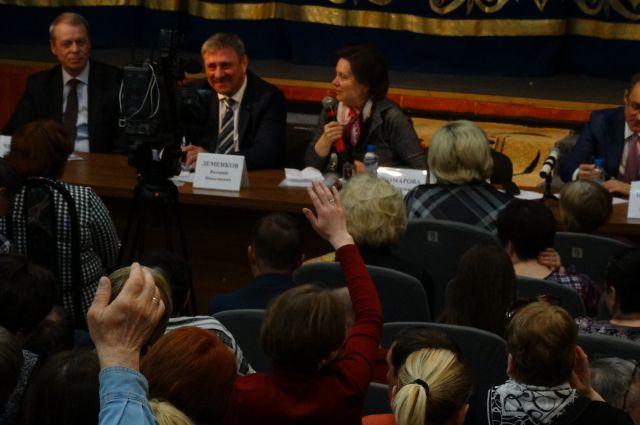 Встреча Натальи Комаровой с общественностью в Белом Яре.