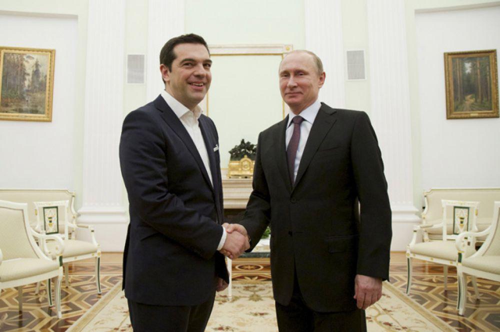 8 апреля. Визит греческого премьер-министра в Москву.