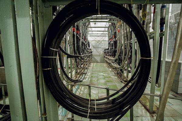 Шахта ввода кабелей, куда приходят владимирские городские и областные линии связи.