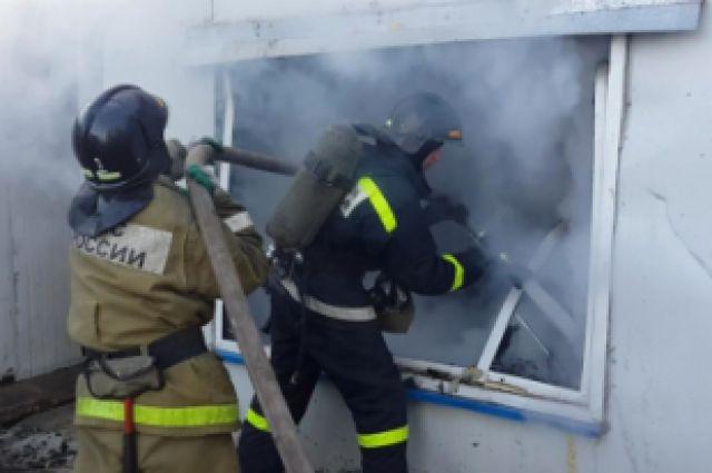 Пожар в Ольгинском районе.