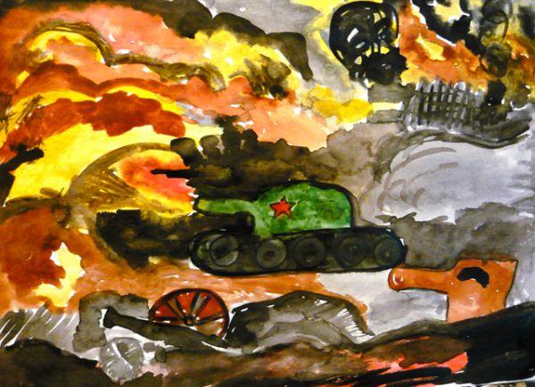 Участник №29. Приходченко Лиза, «Была война». 5 лет, МБДОУ № 162