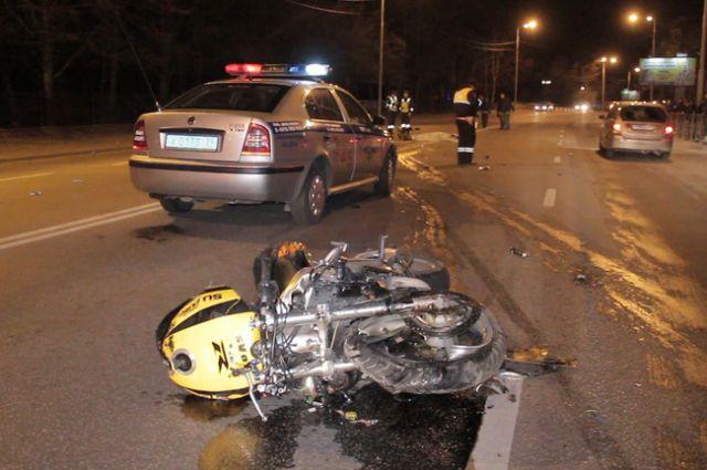У водителя мотоцикла не было шанса выжить.
