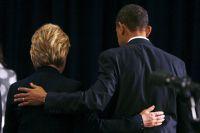 Хиллари Клинтон и Барак Обама.