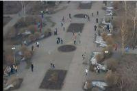 Кадры с камер видеонаблюдения в Новокузнецке.