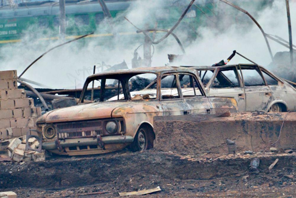 Последствия природных пожаров в селе Шира Республики Хакасия.