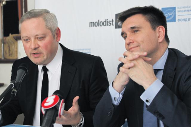 Меценат Игорь Янковский и министр Павел Климкин