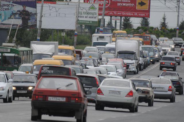 Названа тройка самых длинных пробок Новосибирска