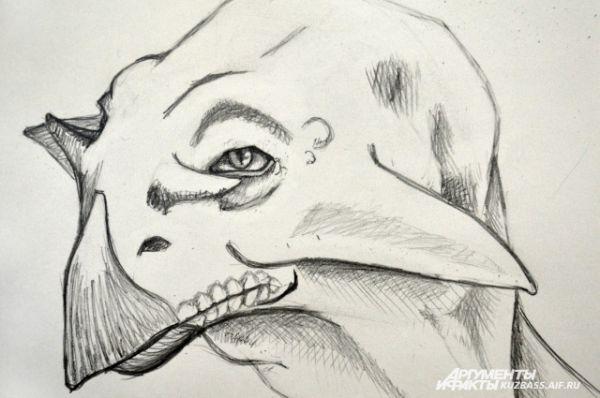 Свой вклад в мировою копилку палеоиллюстраций сделал и главный редактор еженедельника «АиФ в Кузбассе» Павел Казаков. Критики высказали единодушное мнение, что динозавр вышел вдумчивым.