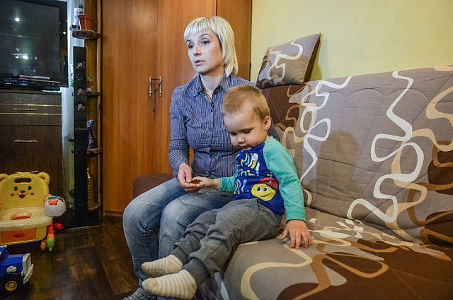 Наталья Воронцова с сыном.