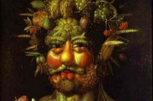 Джузеппе Арчимбольдо. Портрет императора Рудольфа II в образе Вертумна, 1590.