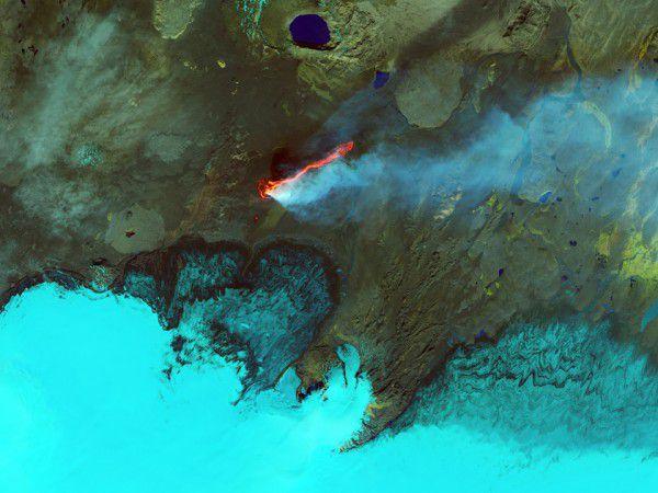 Потоки лавы на плато Холухрейн