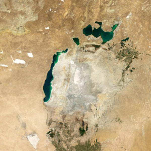 Аральское море в 2014 году