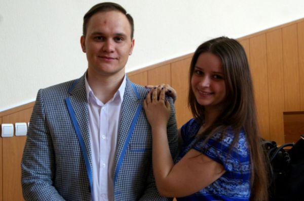 Координатор площадки в ДГТУ Ольга Слухаева и продюсер, радиоведущий Радио-FM Эдуард Раткевич.