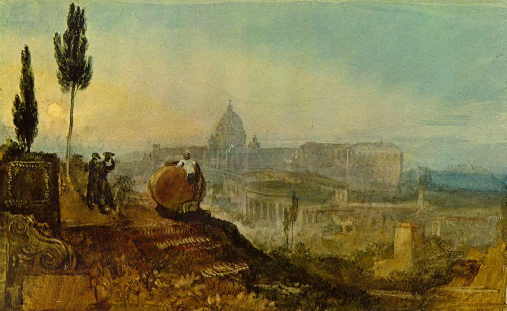 Тернер много путешествовал по Европе, и всегда с ним была его походная палитра. Художник оставил более 10 000 рисунков и набросков видов Франции, Швейцарии, Италии, Англии.