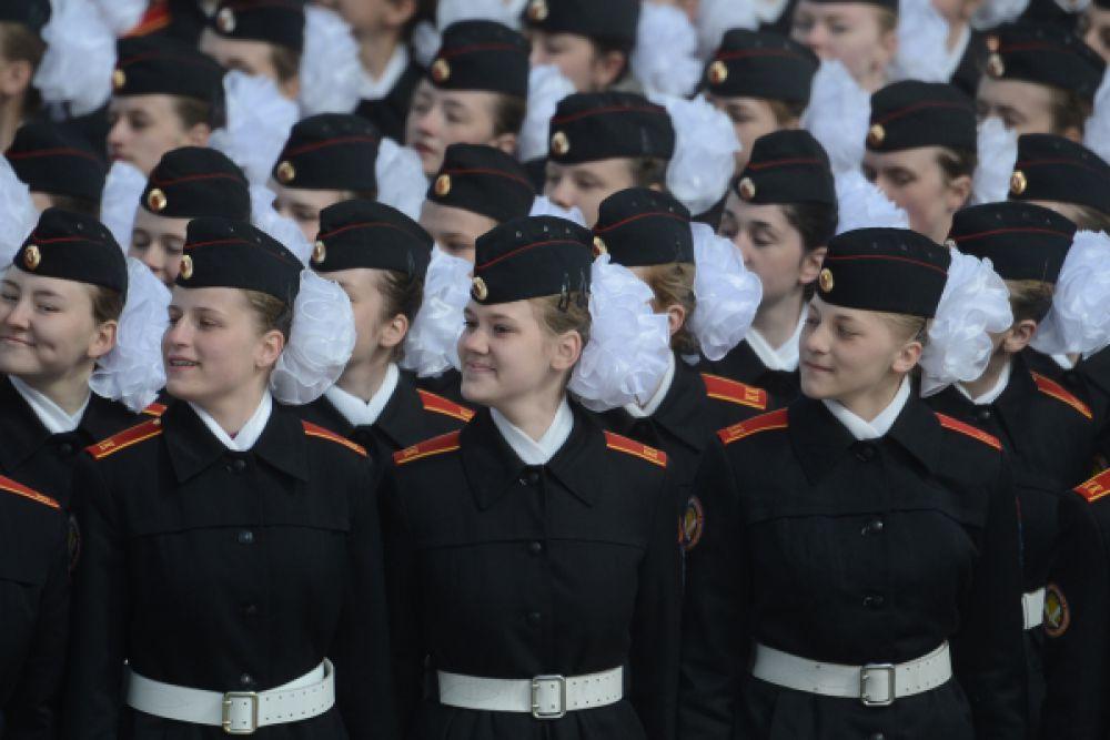Репетиция Парада Победы на подмосковном полигоне.