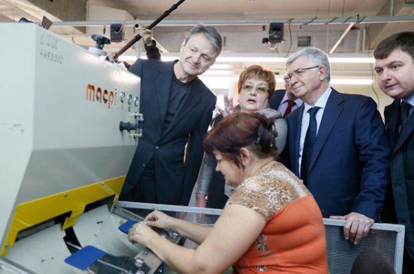 Глава региона посетил ряд производственных предприятий краевой столицы, февраль 2015 год.