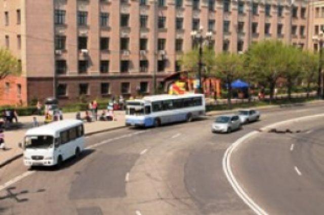 Движение 9 мая в Хабаровске