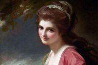 Эмма Гамильтон, 1782 год. Фрагмент картины Джорджа Ромни