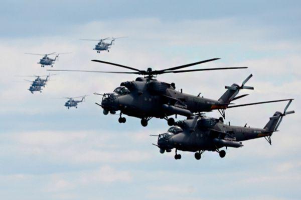 Вертолеты Ми-35.