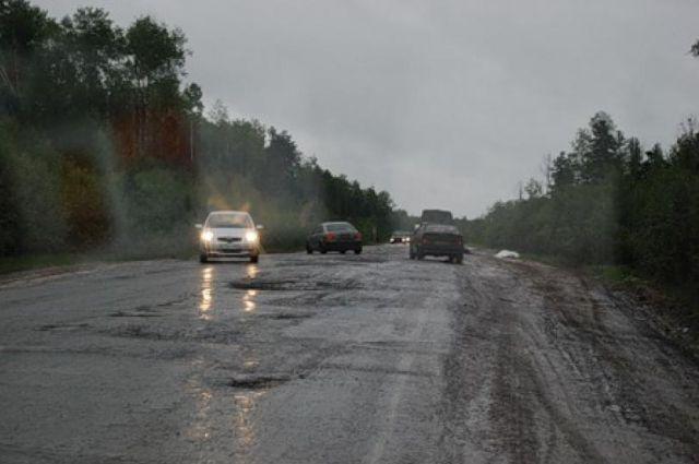 Дорога Уват - Салым.