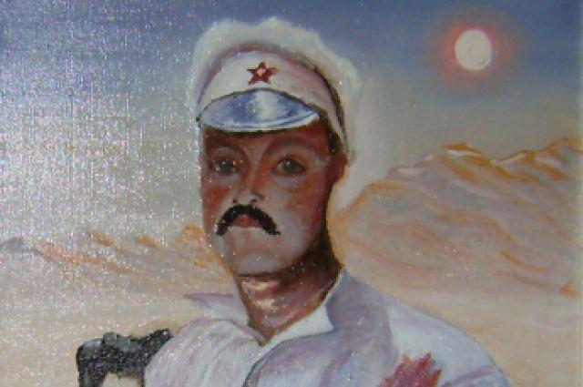Анатолий Черняев, автопортрет в образе красноармейца Сухова
