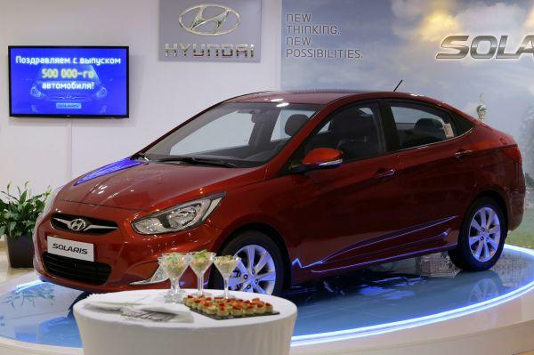 Hyundai Solaris  обошел Lada Granta и лидировал в классе малых авто.