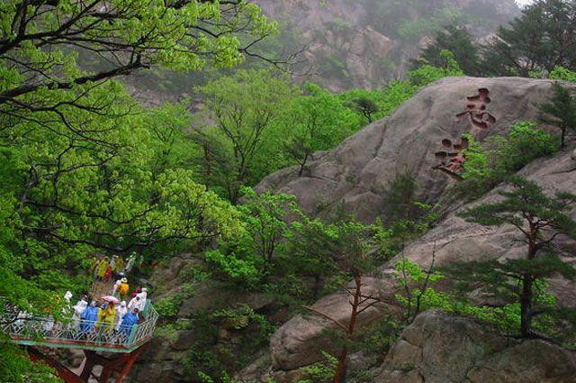 Заповедник в горах Кымгансан.