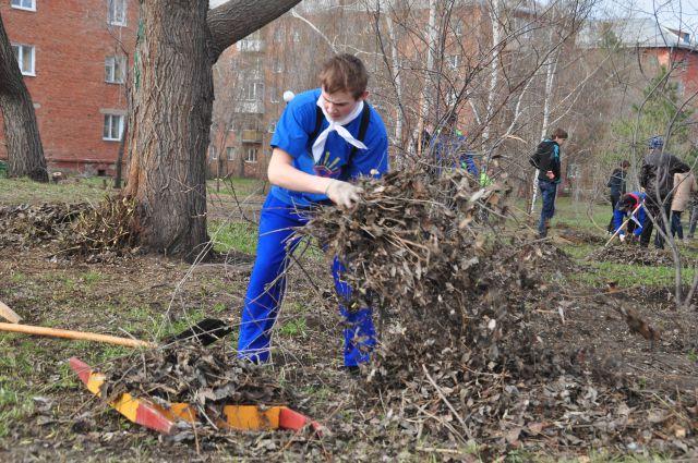 Субботник проходил в Омске в минувшую субботу.