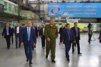 Дмитрий Рогозин на Иркутском авиационном заводе.