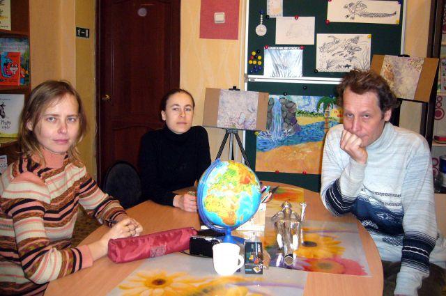 Авторы мультфильма (слева направо) Татьяна Корепанова, Людмила Берлякова и Павел Берляков.