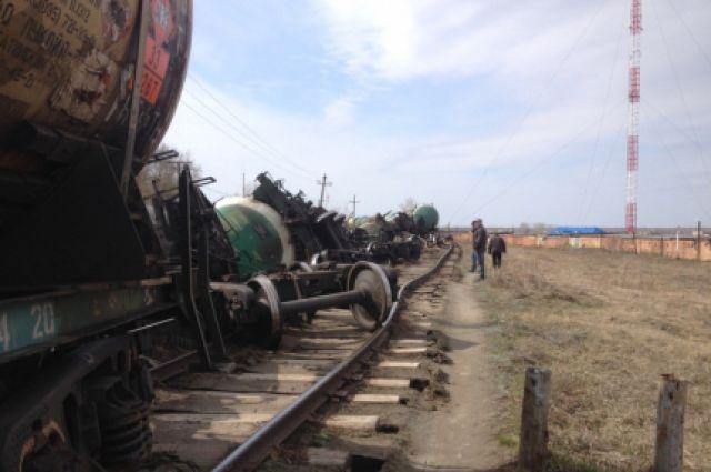 Сход вагонов произошёл утром в субботу.