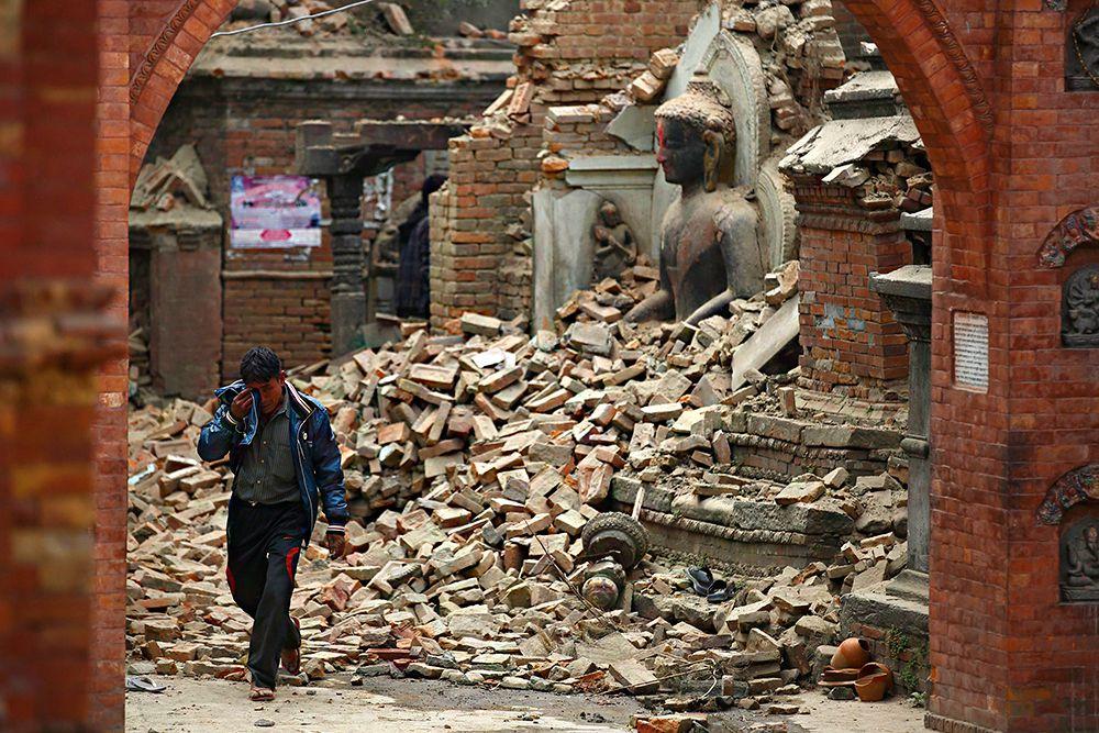 Полностью разрушены два храма в Патане (Pātan) - втором по численности населения городе страны.