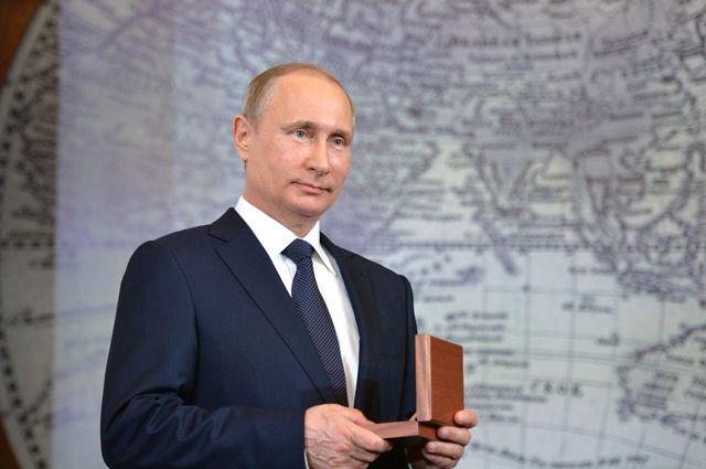 Владимир Путин на заседании попечительского совета Русского географического общества.
