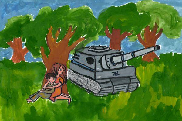 Участник №118. Дусмеева Дарья, 6а класс МБОУ г.Иркутска СОШ № 4.  «Боже, только б не увидели»