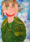 Участник №80. Хороших Лида, 6 лет. «Фронтовая медсестра»