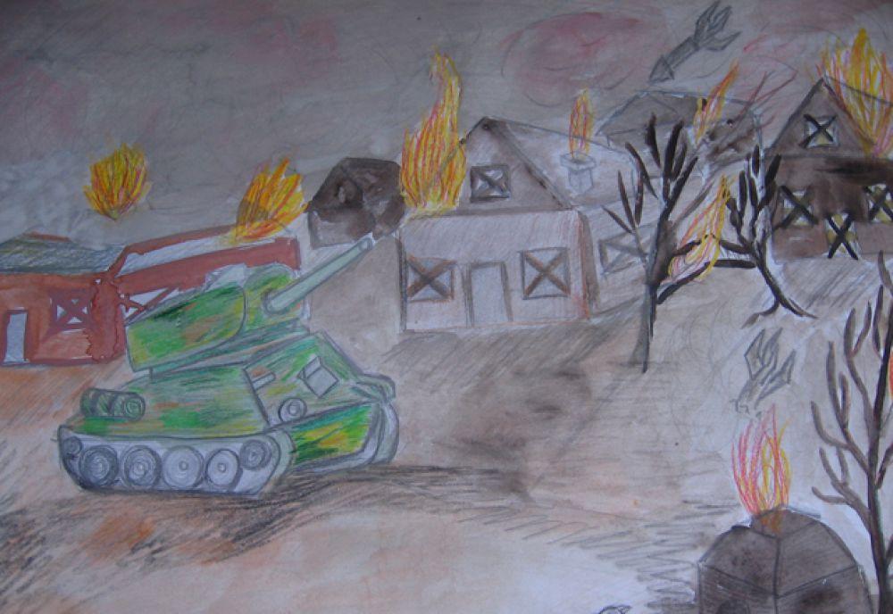 """Участник №86. Чеглакова Ангелина,  """"Освобождение"""". Ангарск, гимназия №8, 4 класс."""