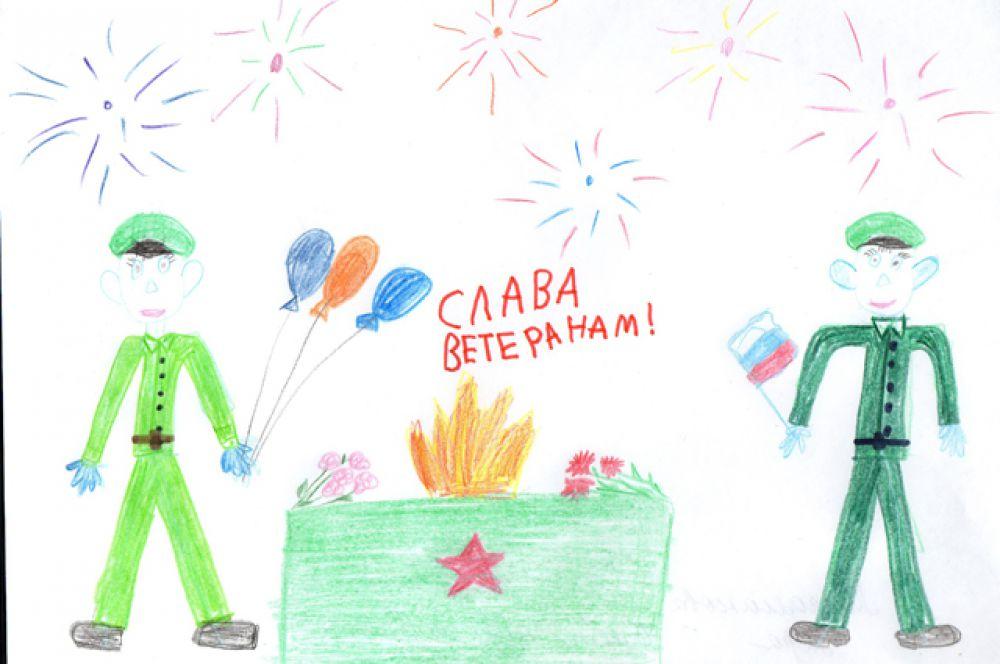 Участник №104. Мироманова Лера, 6 лет, «Слава ветеранам». Группа «Аистята», МБДОУ г.Иркутска детский сад