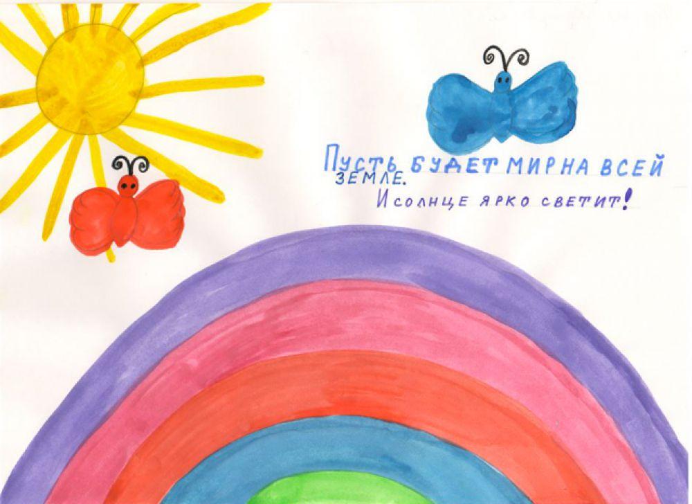 """Участник №162. Черных Азизбек, 5 лет. """"Пусть солнце ярко светит"""""""