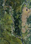 Снимок со спутника SPOT-6, дата 23.09.2014. Пространственное разрешение 1,85 м/пиксел, синтез в натуральных цветах. Место впадения Вишеры в Каму.