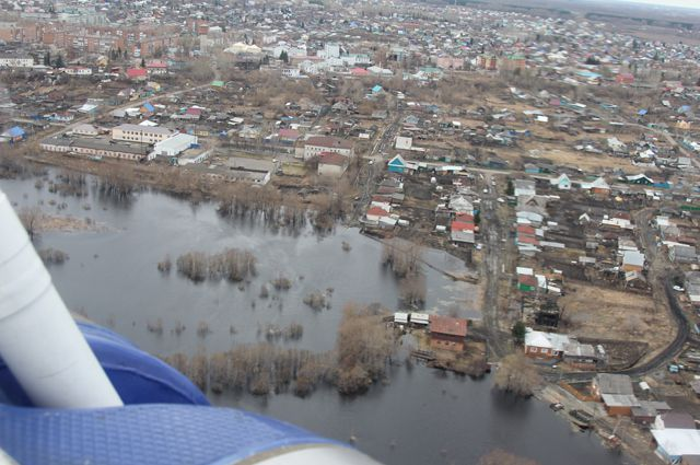 Паводок в Омской области.