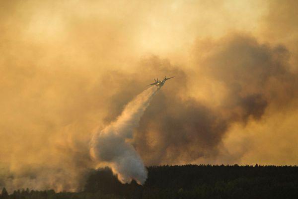 Однако из-за сильных порывов ветра днем огонь перекинулся на новые площади. На тушение огня были брошены 36 работников трех лесничеств, а также прибыли 30 сотрудников Госслужбы по ЧС Украины.
