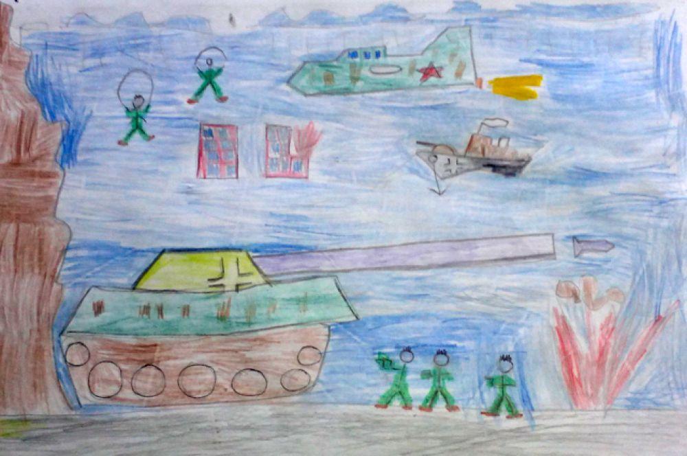 Участник №296. Борисенко Кирилл, 7 лет. МБДОУ №96, «Чтоб не было такой войны»
