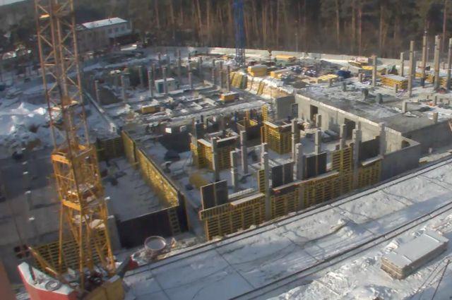 Строительство федерального перинатального центра в Челябинске.