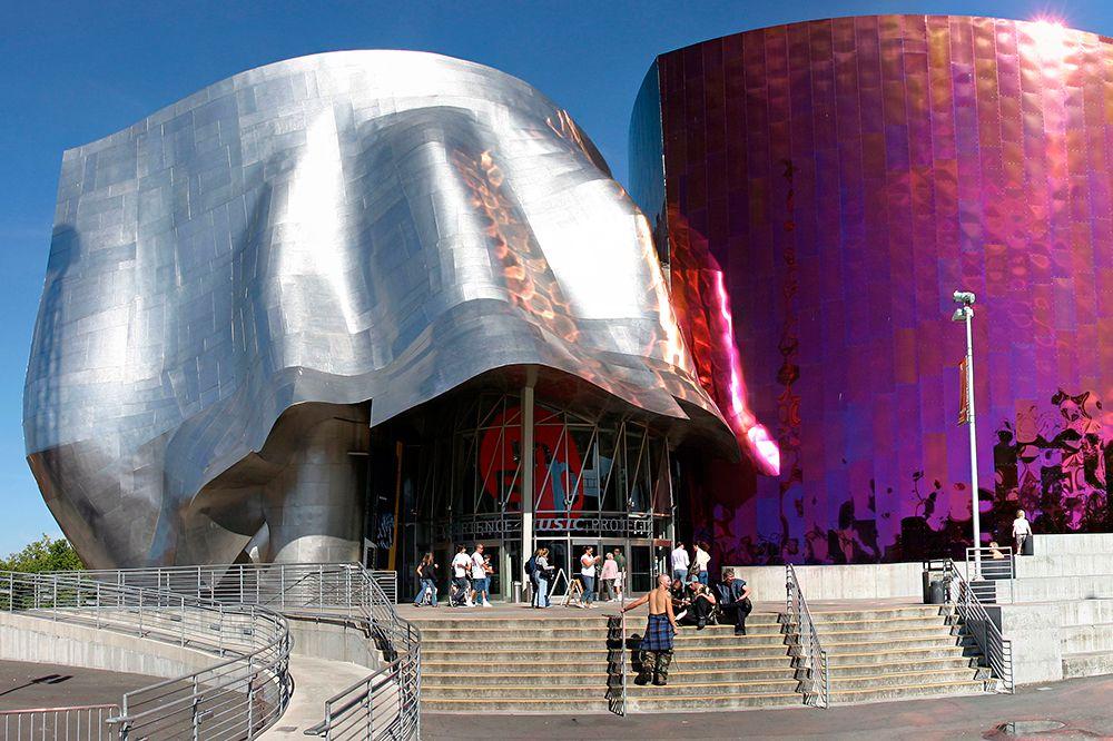 Центр музыки в Сиэтле, США.