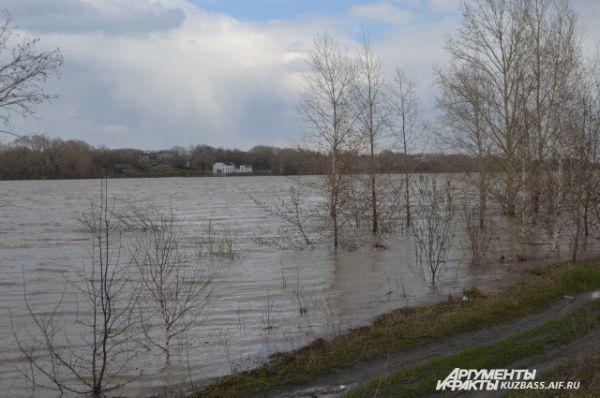 Вид на Кировский район с дороги на Мозжуху.
