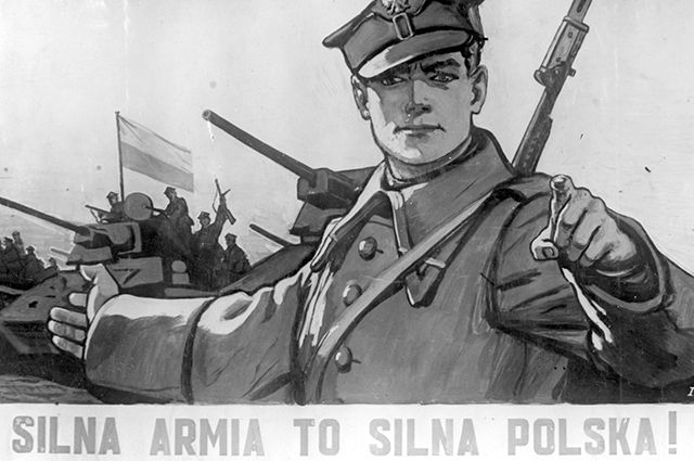 Плакат «Сильна армия, сильна Польша». Художник В. Иванов. 1945 г.