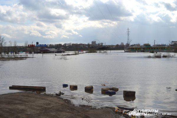 Одно из летних мест отдыха кемеровчан сейчас затоплено.