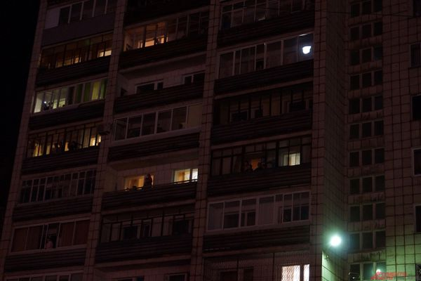 Еще одна площадка для просмотра - дома, окна которых выходят на эспланаду.
