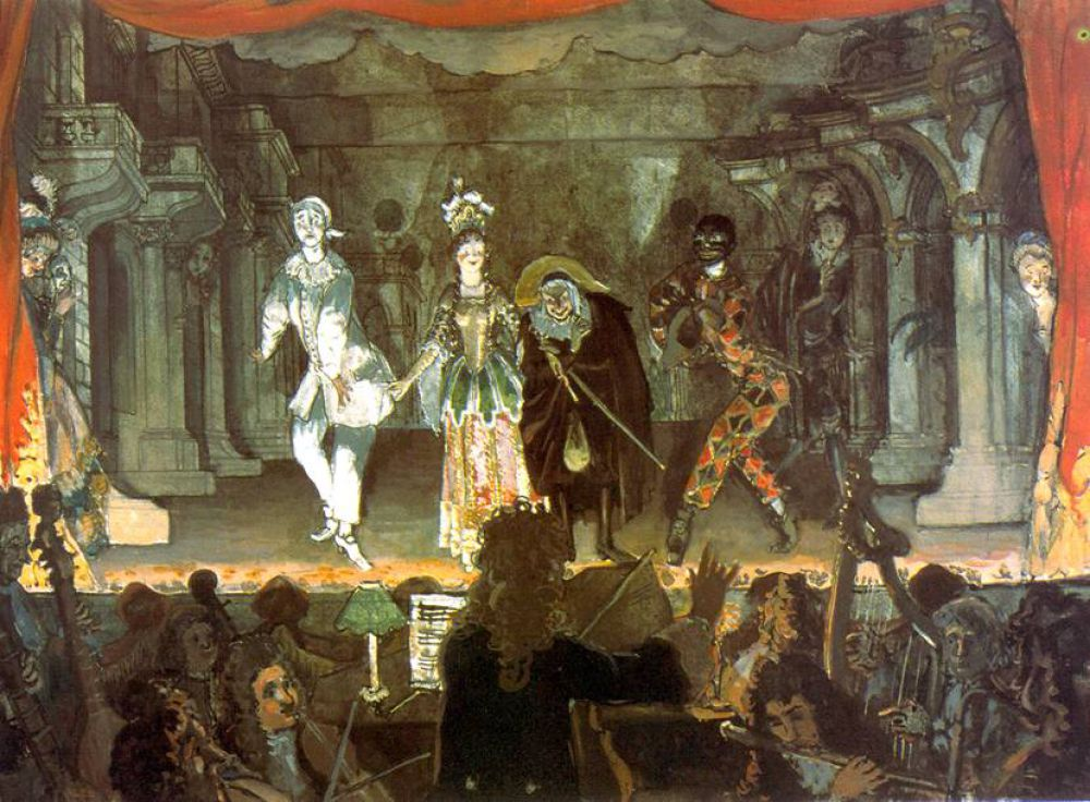 Бенуа так сильно увлекся балетом, что при его непосредственном участии Дягилевым в Париже в 1909 году была организована частная балетная труппа «Русские сезоны». Бенуа занял в труппе пост директора по художественной части и придумал оформление к нескольким спектаклям.